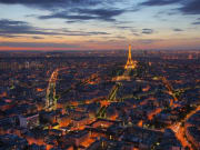 Eiffel Tower viewed from Montparnasse Tower