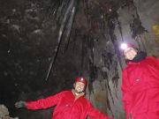 Exploring an ice cave under Mt. Fuji