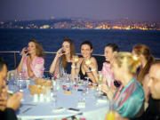 night dinner, cruise, Bosphorus