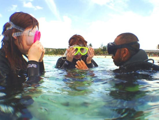 体験ダイビング説明3