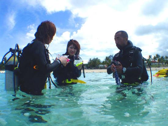 体験ダイビング説明1