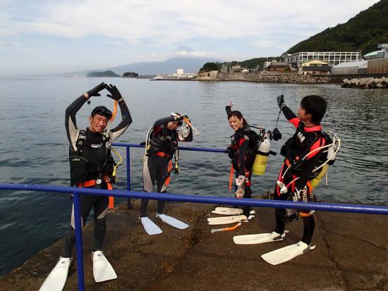 海で体験ダイビング06