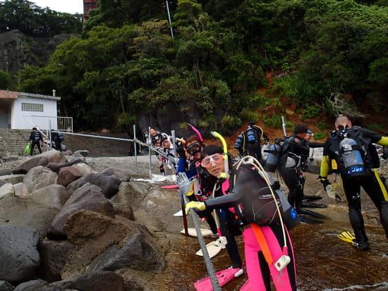 海で体験ダイビング05