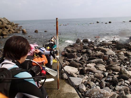 海で体験ダイビング08