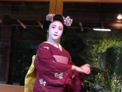 A maiko dancing in Kyoto