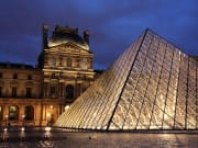 Louvre Exterior at night
