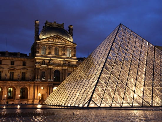 Louvre Museum at Night with Wine Tasting at Les Caves du
