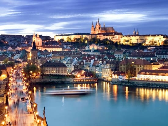 Prague Vltava River Night Cruise And Buffet Dinner Prague