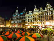 9. grandplace in the evening evening tour. global enterprises tours. food. sightseeing. tourism. brussels in a day. brussels in