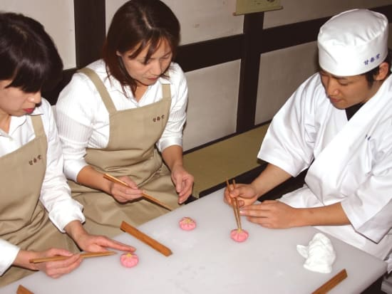 Making Japanese sweets