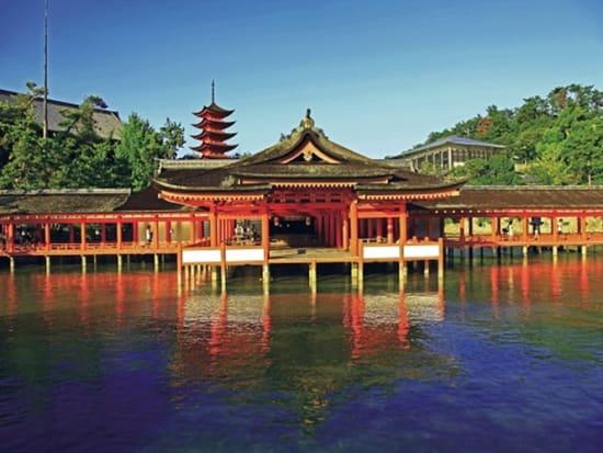 The main hall of Itsukushima Shrine