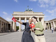 Berlin Welcome Card Women in Brandenburg Gate