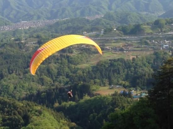 Paragliding over west Tokyo