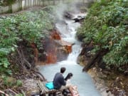 天然足湯森の足湯泉源