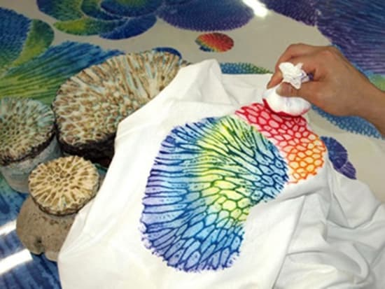 Traditional Okinawan coral dyeing