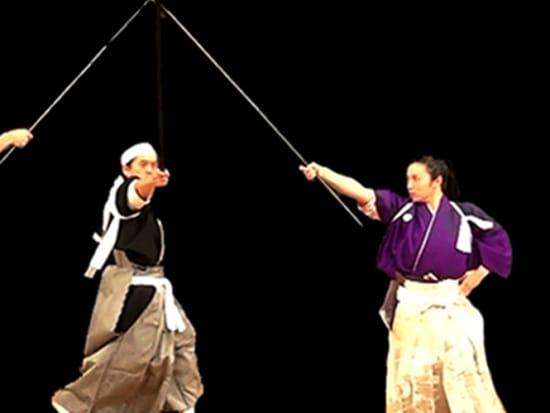 Traditional Kembu sword fighting
