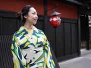 Wear a bright kimono in classic Kyoto