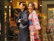 Dating in Kyoto while wearing kimono