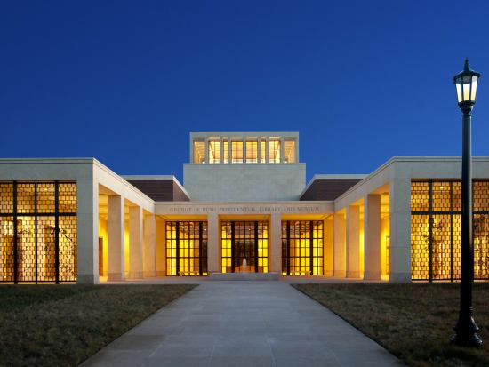 GW Bush Library Exterior Dusk