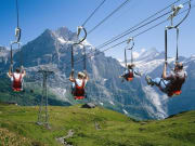 interlaken, switzerland, zipline