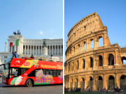 Hop on hop off Rome and Colosseum
