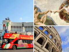 Rome Hop-On Hop-Off, Colosseum, Vatican Museums