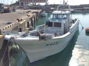 Fishing boat at port in Okinawa