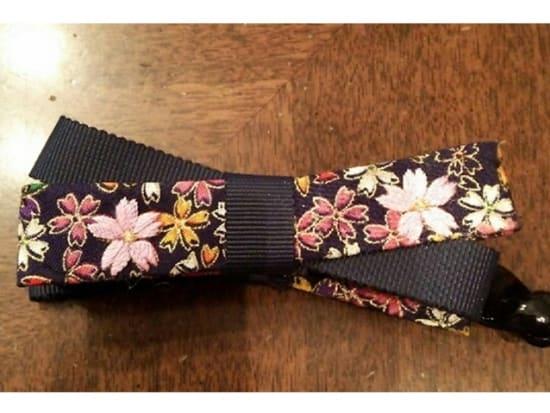 A flower motif Kaga Embroidery work