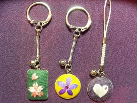 Embroidered Japanese key chains