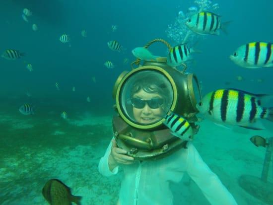 Cebu Mactan Helmet Diving elderly woman