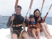 Cebu Mactan family on parasailing adventure