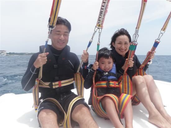 cebu, mactan island, parasailing