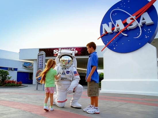 Astronaut with Guests
