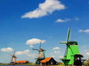 Zaanse Schans wooden windmills