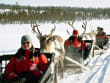 santa claus, reindeer caravan, rovaniemi, lapland