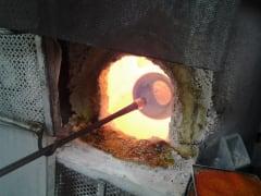 murano glass making