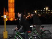 London, Christmas lights, bike tour