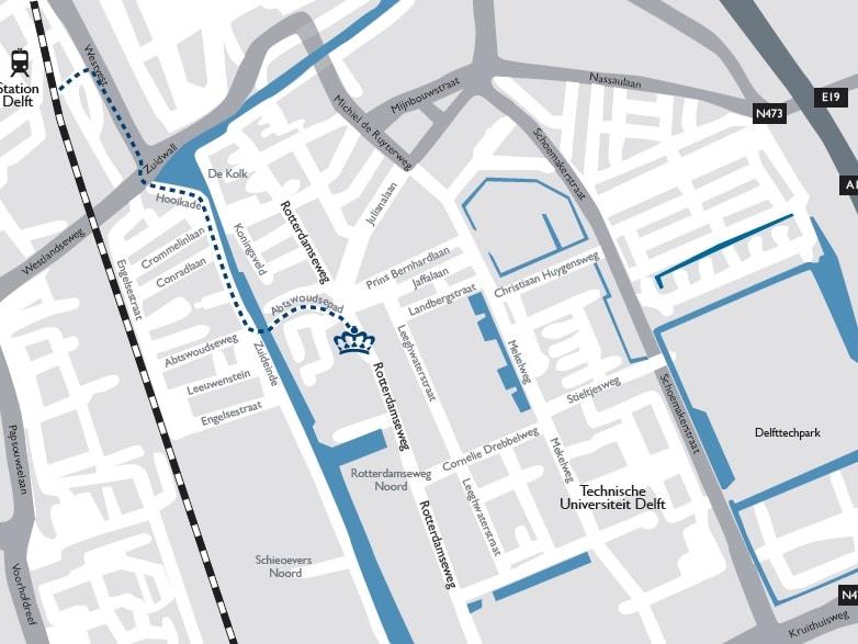 ロイヤルデルフト地図
