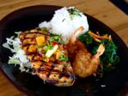 Orchid Menu -Teriyaki Chicken & Coconut Shrimp