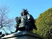 Bronze statue of Takeda Shingen