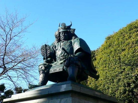 Bronze statue of Takeda Shingen