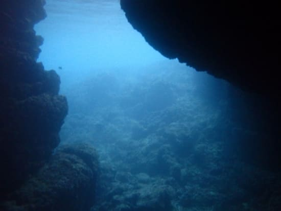 The mysterious water of the cave