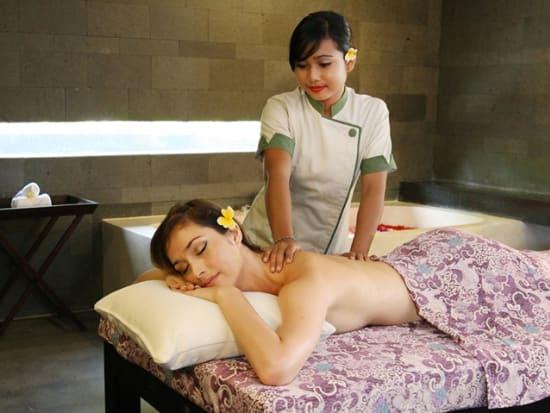 woman receiving premium spa treatment in jimbaran