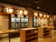 Standung bar with 100 types of Japanese Sake