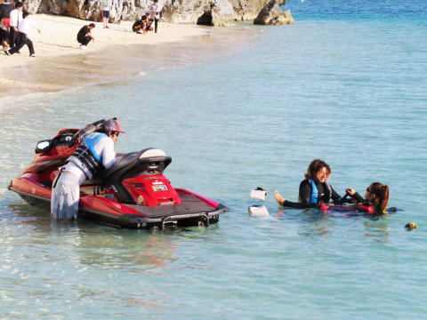 Water Jet Pack and Okinawa Beach Activities at Motobu