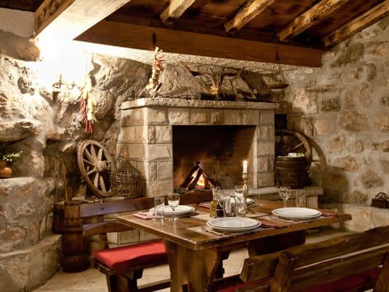 Cozy interior of the local restaurant