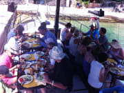 Lunch on board the boat