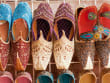 Arabian shoes in traditional souk Dubai