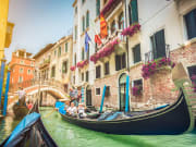 Relaxing gondola ride on Venice Grand Canal
