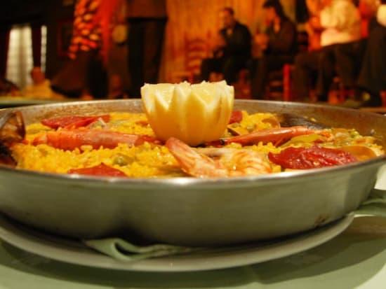 Spain, Madrid, Cafe de Chinitas, Paella Dinner